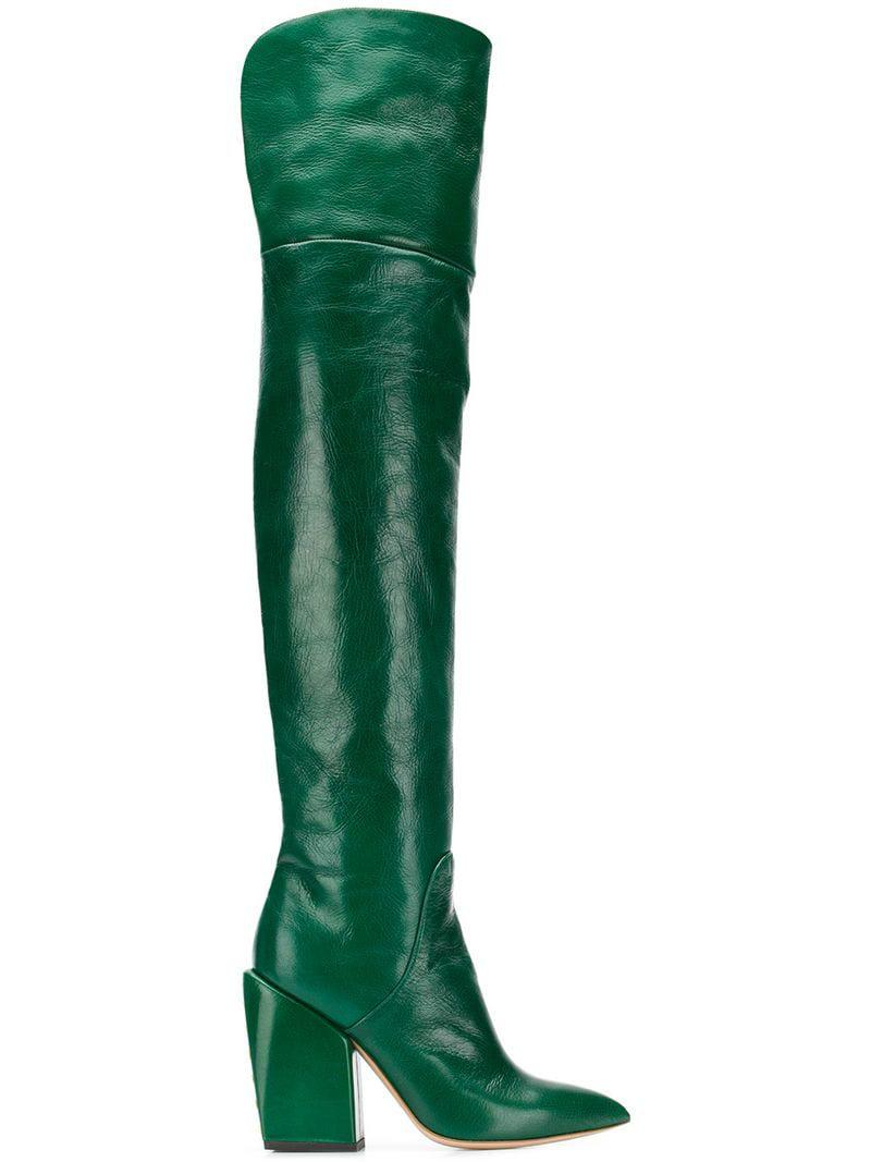 Petar Petrov Leather Over-the-knee