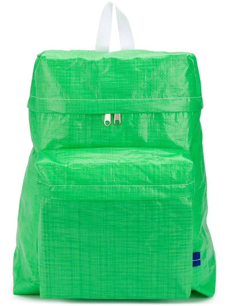 eda4b64afbd Lyst - Comme des Garçons Zipped Backpack in Green for Men