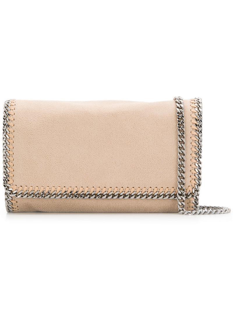 bf1826227d6e Stella Mccartney Falabella Shoulder Bag in Natural - Lyst