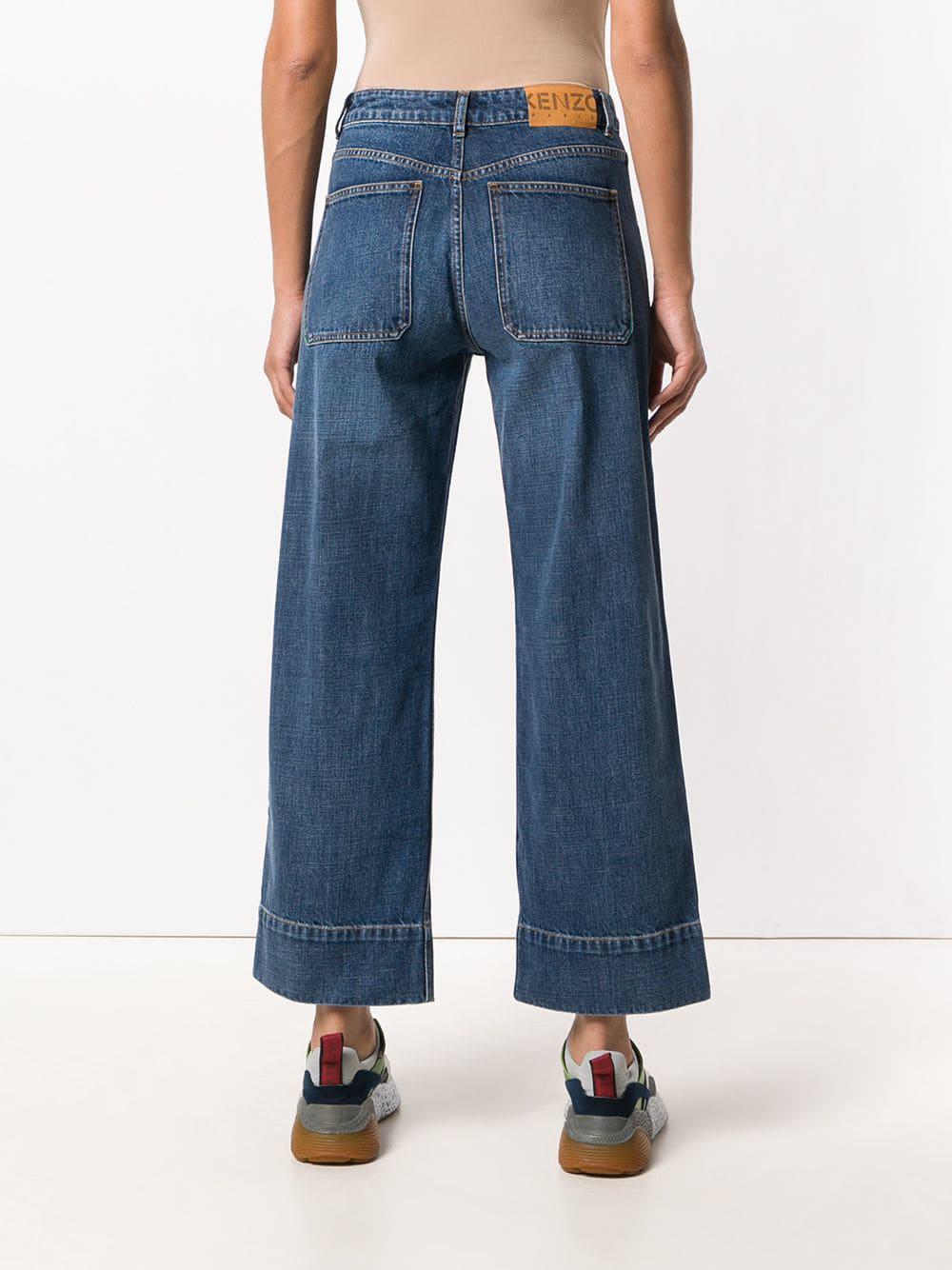 ab78c791 KENZO Wide Leg Jeans in Blue - Lyst
