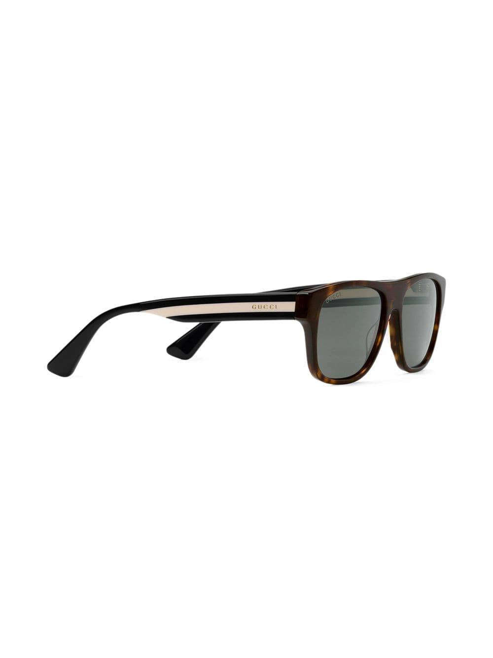 0742ef3ba6d Gucci Rectangular-frame Acetate Sunglasses in Brown for Men - Lyst