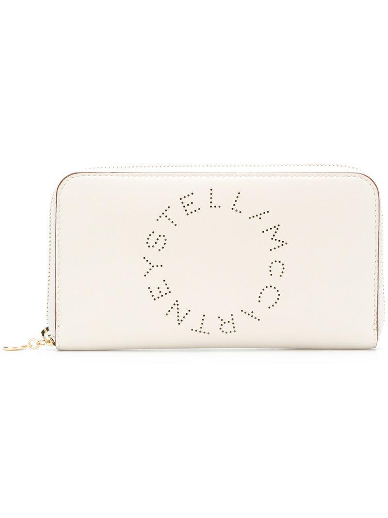 perforated logo wallet - White Stella McCartney HToLCxpkW