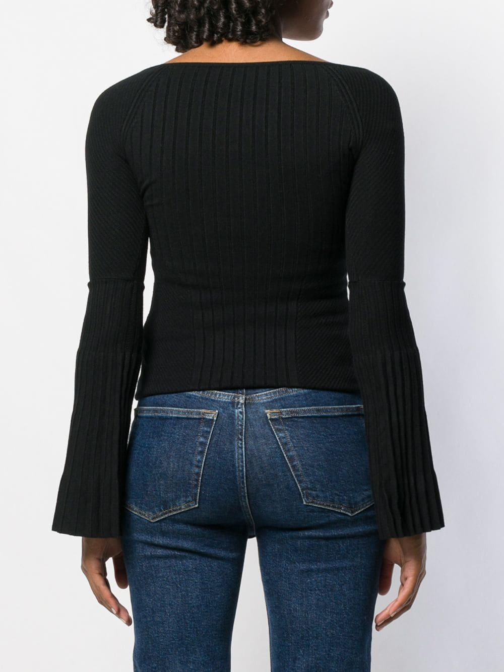 Jersey con hombros descubiertos DSquared² de Tejido sintético de color Negro