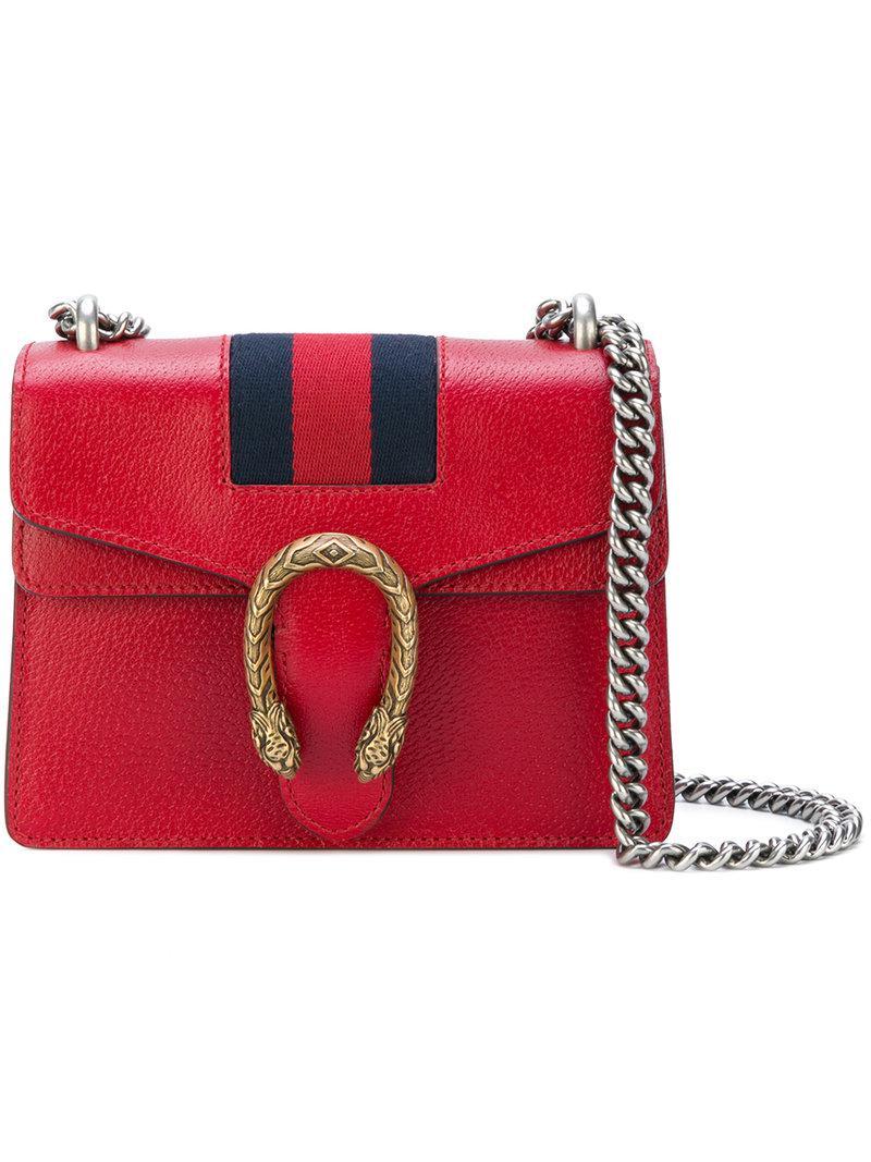 28b36e97449 Lyst - Gucci Dionysus Shoulder Bag in Red