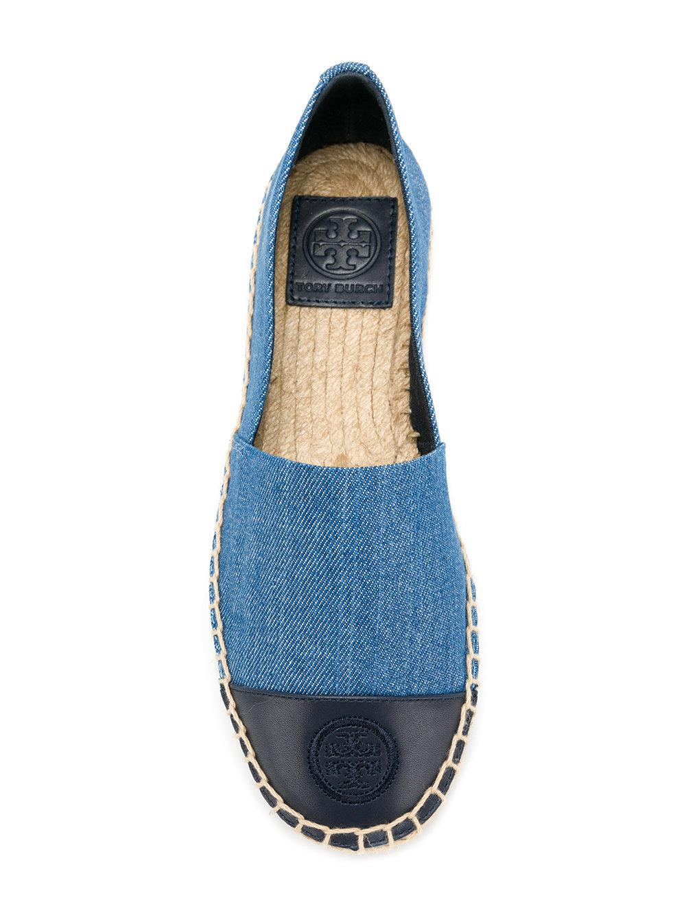 b724061a4 Tory Burch Denim Espadrilles in Blue - Lyst