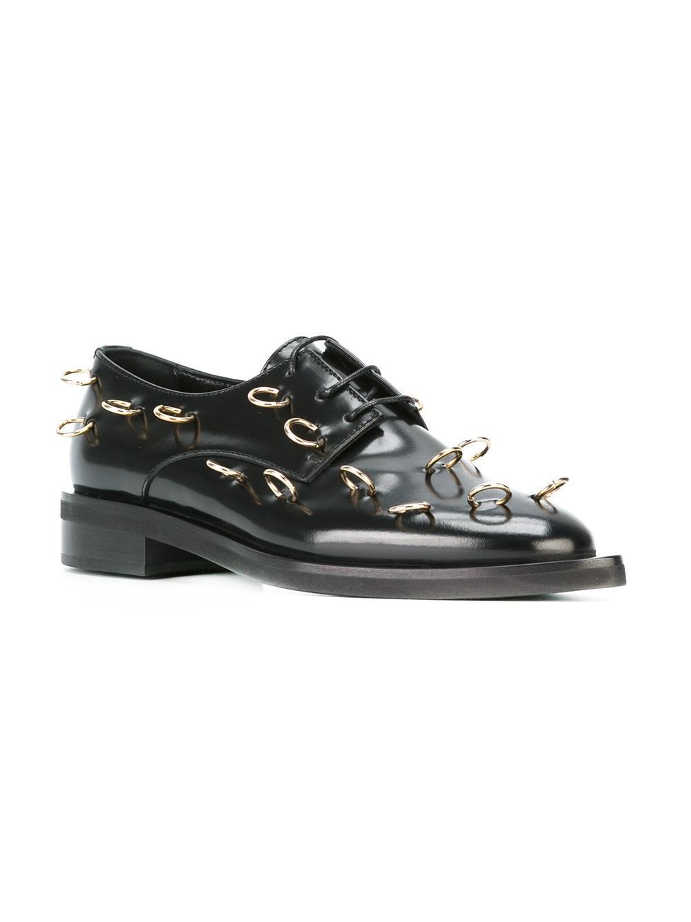 9bd4556c78 Coliac Piercing Embellished Derby Shoes in Black - Lyst