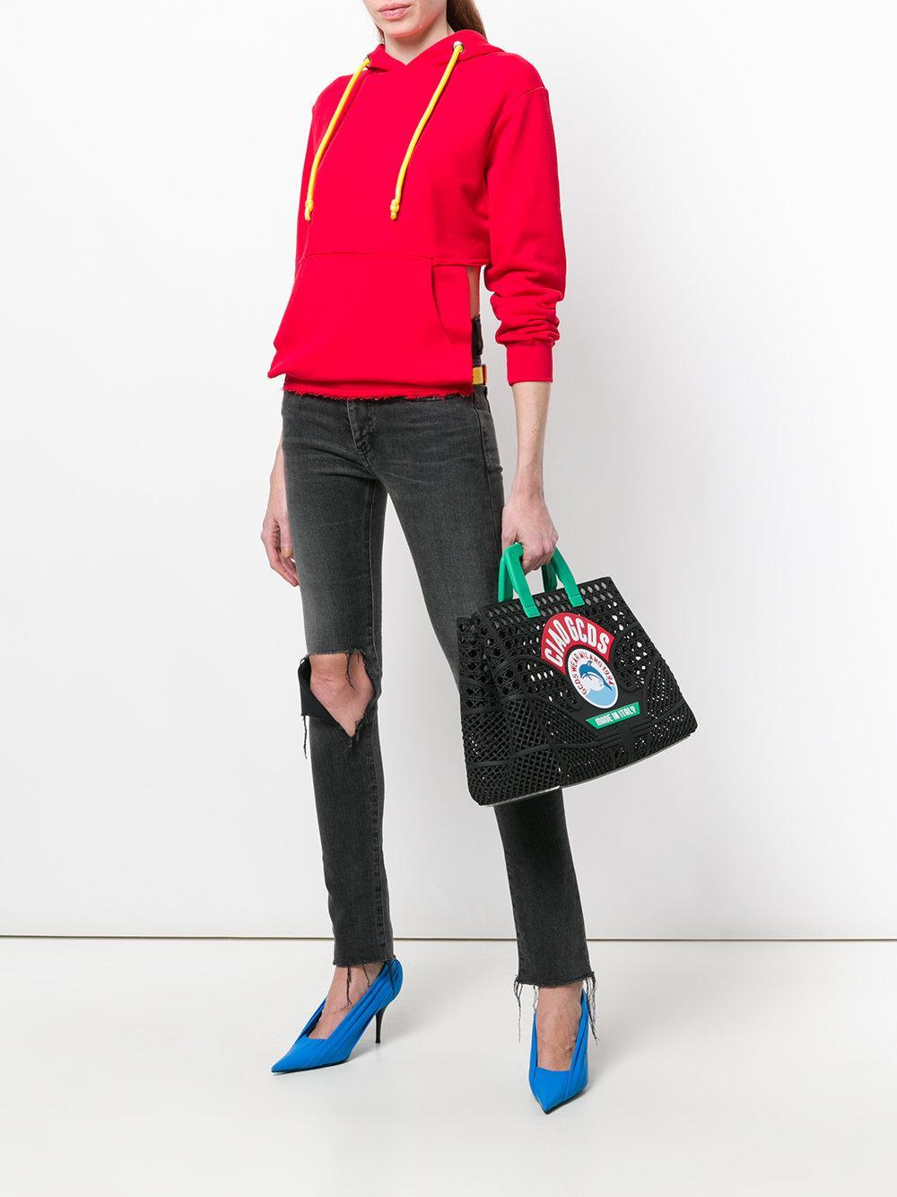 Gcds Ciao Tote Bag in Black