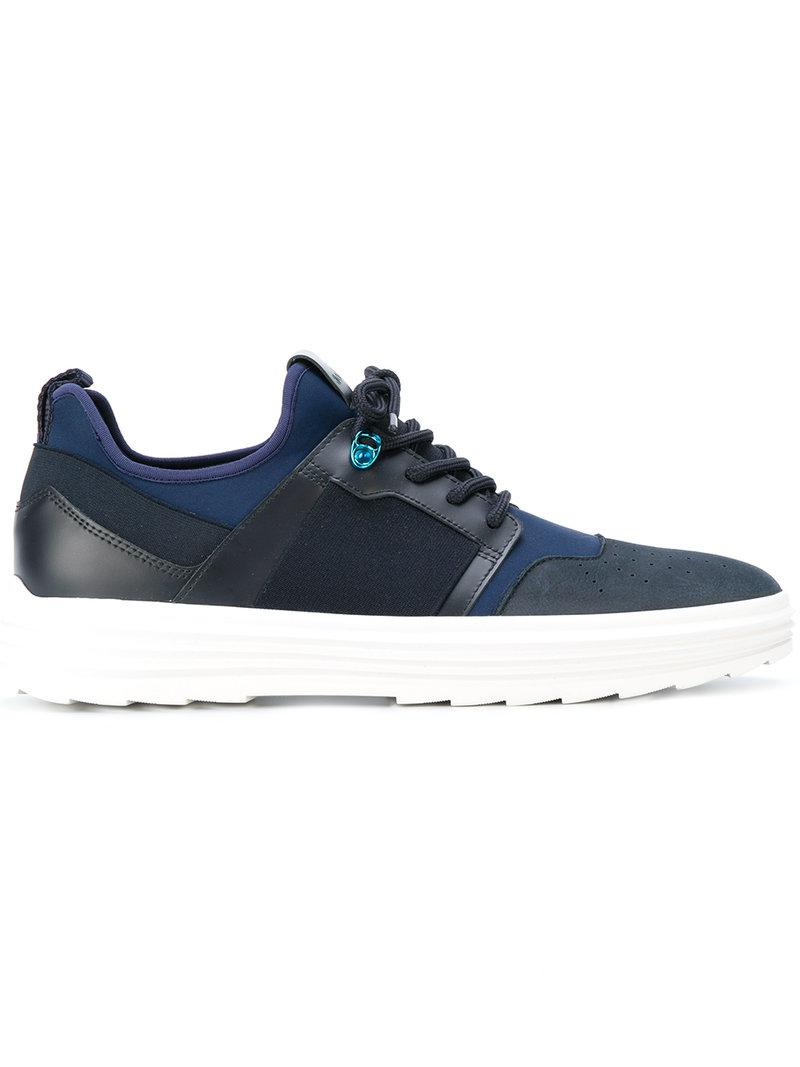 Hogan Leather Sneakers 'h341 Helix' in Blue for Men - Lyst