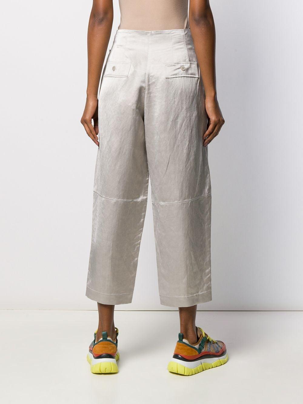 Pantalones capri Gentry Portofino de Lino de color Gris