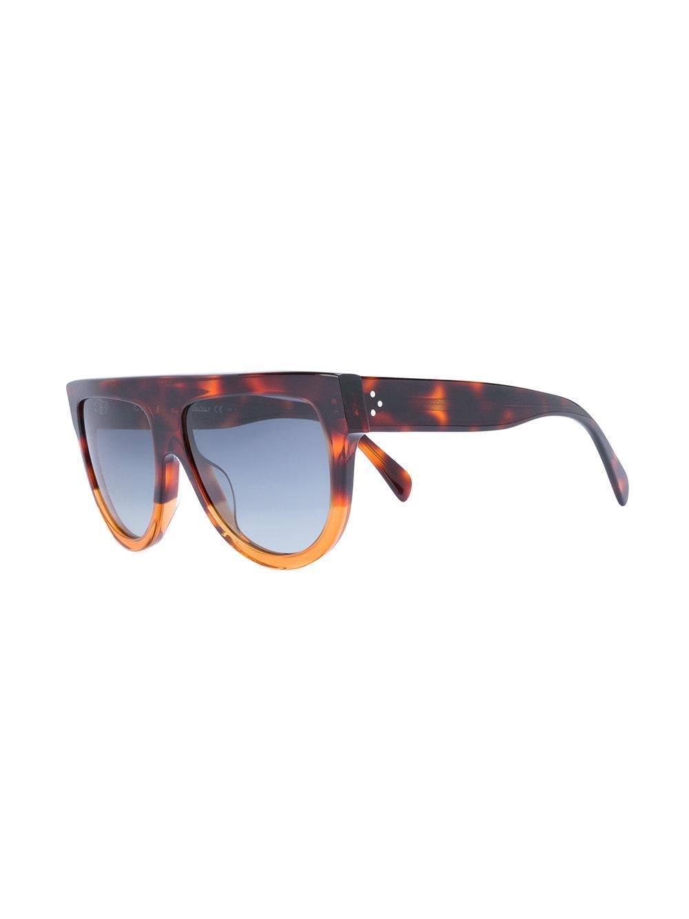 500c23e31d40 Céline D-frame Sunglasses in Brown - Lyst
