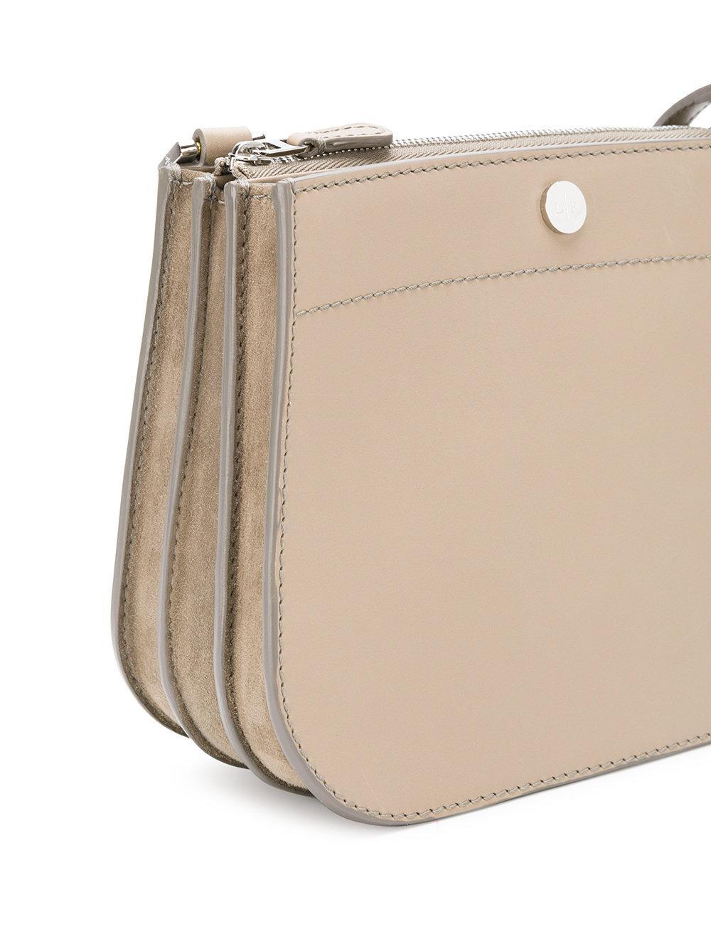Loro Piana Leather Milky Way Crossbody Bag in Natural