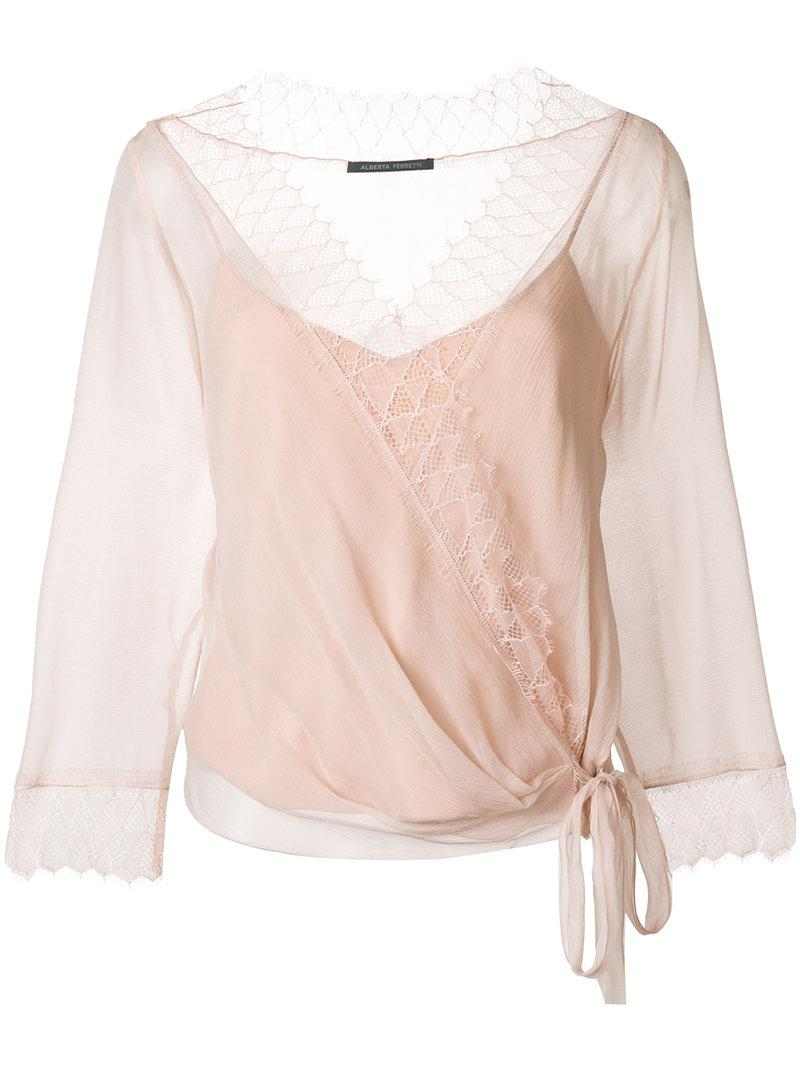 Alberta Ferretti Wrap style ballerina blouse XnJBE4