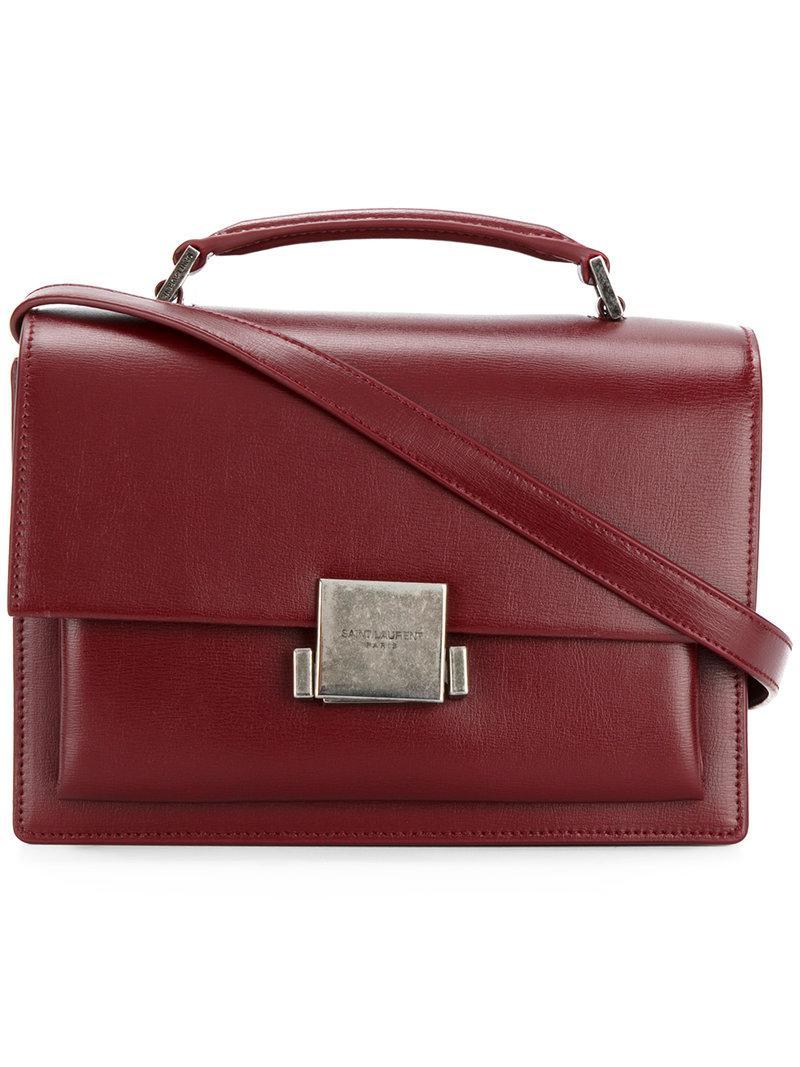 9d6538ad78 Saint Laurent Red Bellechasse Leather Crossbody Bag