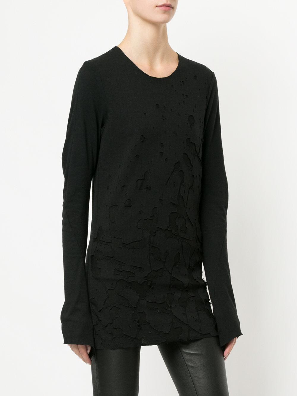 T shirt effetto consumato