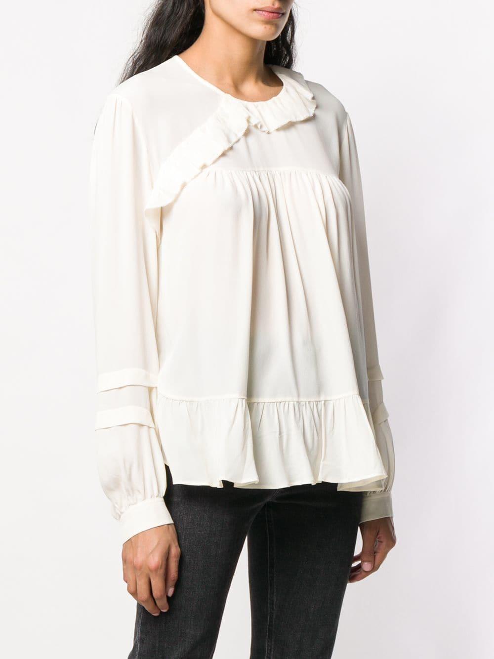 Amaze blouse Soie IRO en coloris Blanc
