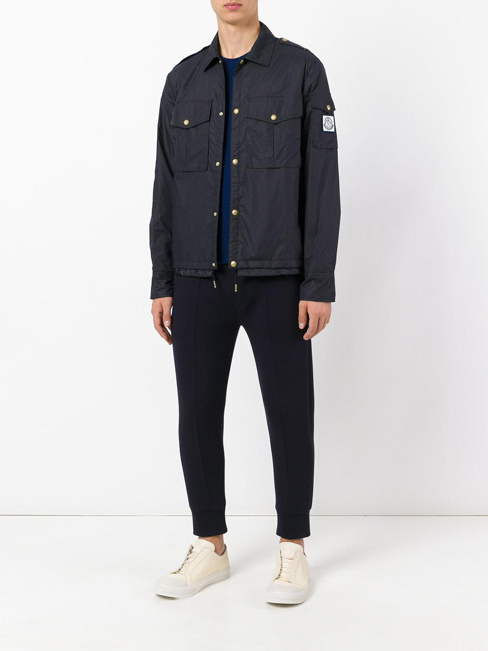 Moncler Gamme Bleu Cotton Snap Button Jacket in Blue for Men