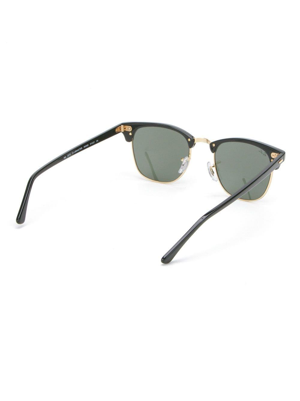 Ray-Ban 'clubmaster' Sunglasses in Black (Green)