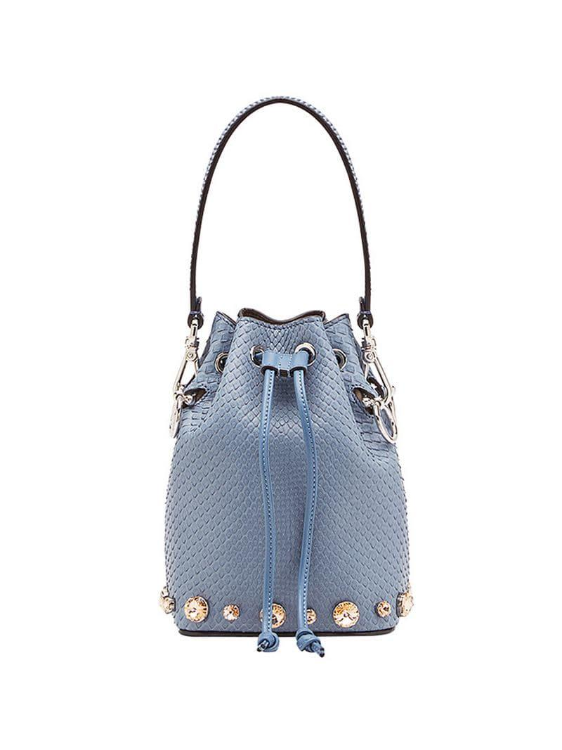 7743a7568dcd Fendi Mon Tresor Mini Bag in Blue - Lyst