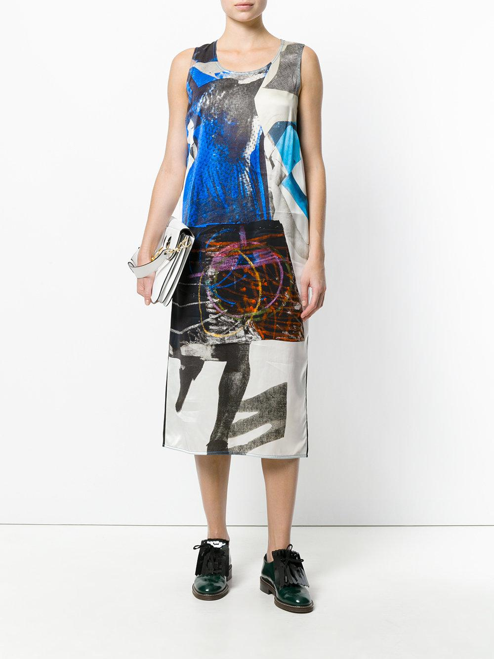 Marni Synthetic Abstract Printed Dress