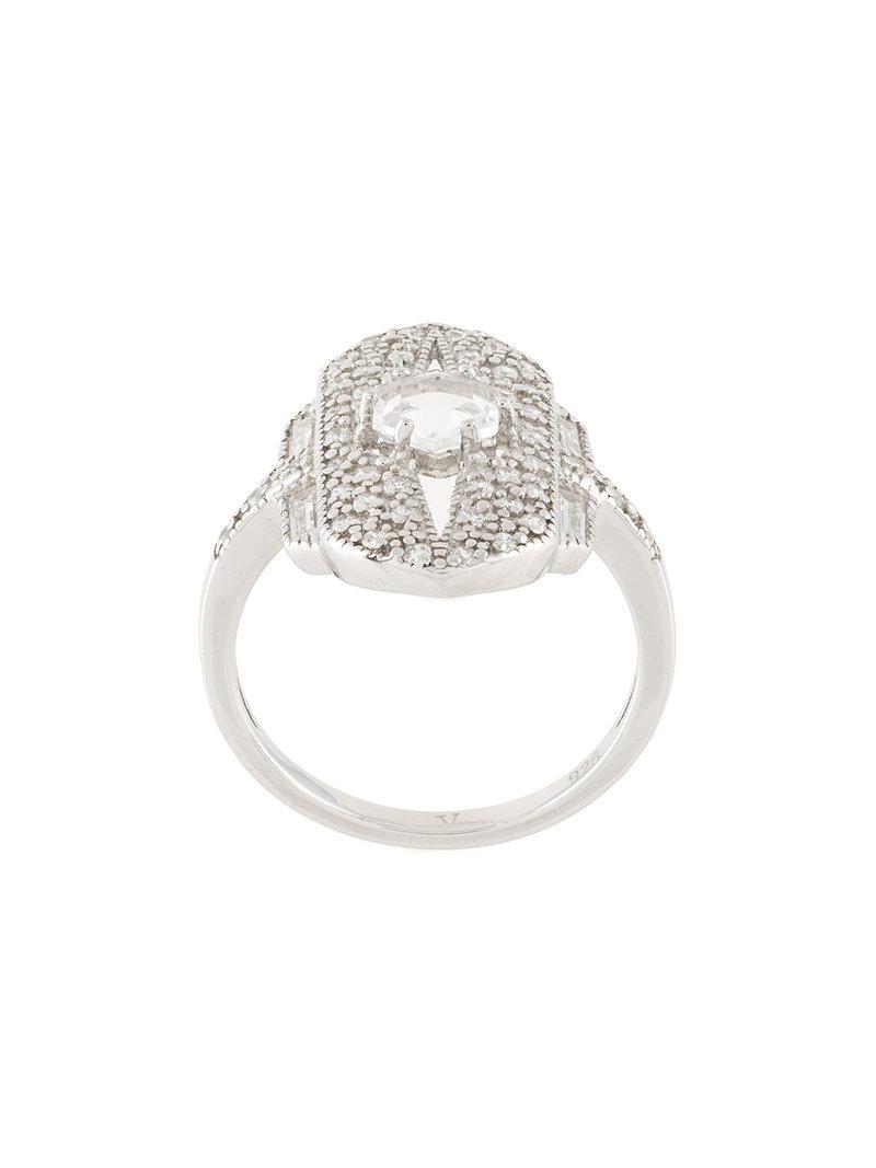 V JEWELLERY Paloma ring - Metallic loDsJdI9NR