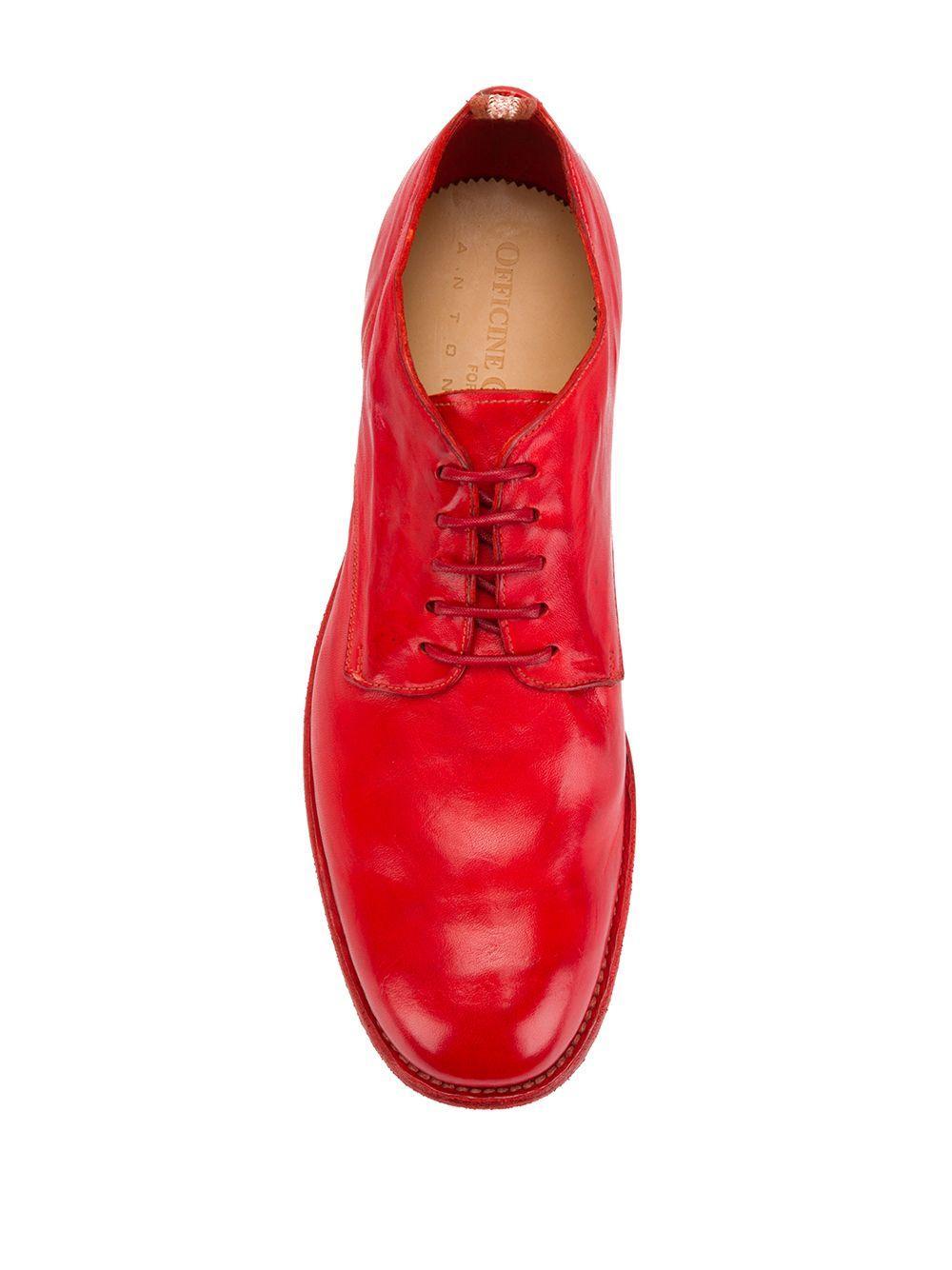 Officine Creative Leer Classic Derby Shoes in het Rood voor heren