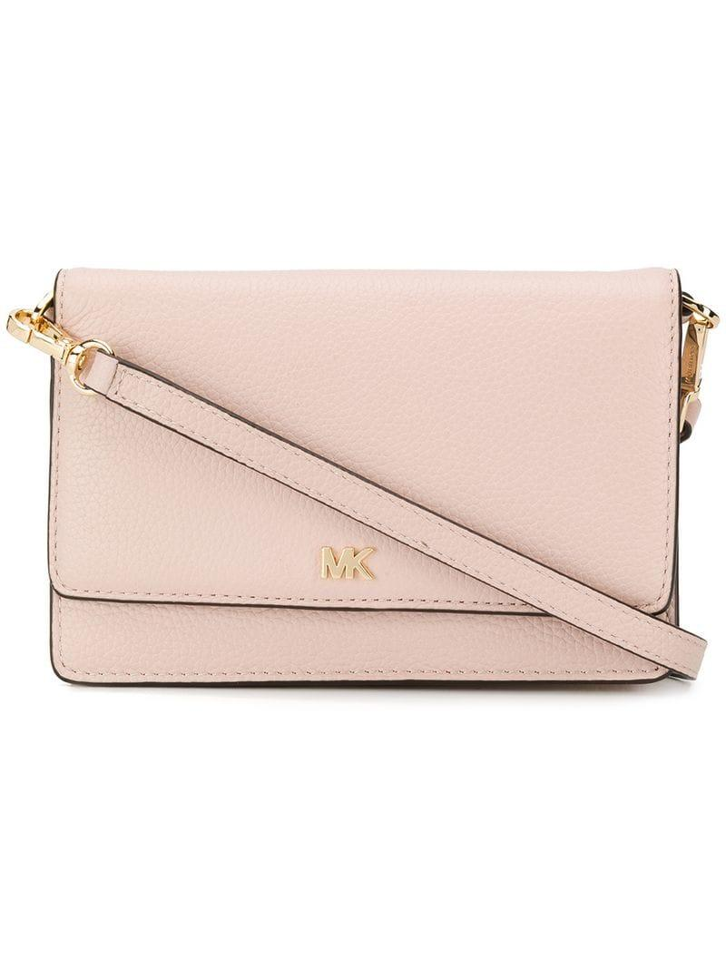 169b2e44c8b46 Lyst - Michael Michael Kors Pebbled Convertible Crossbody in Pink