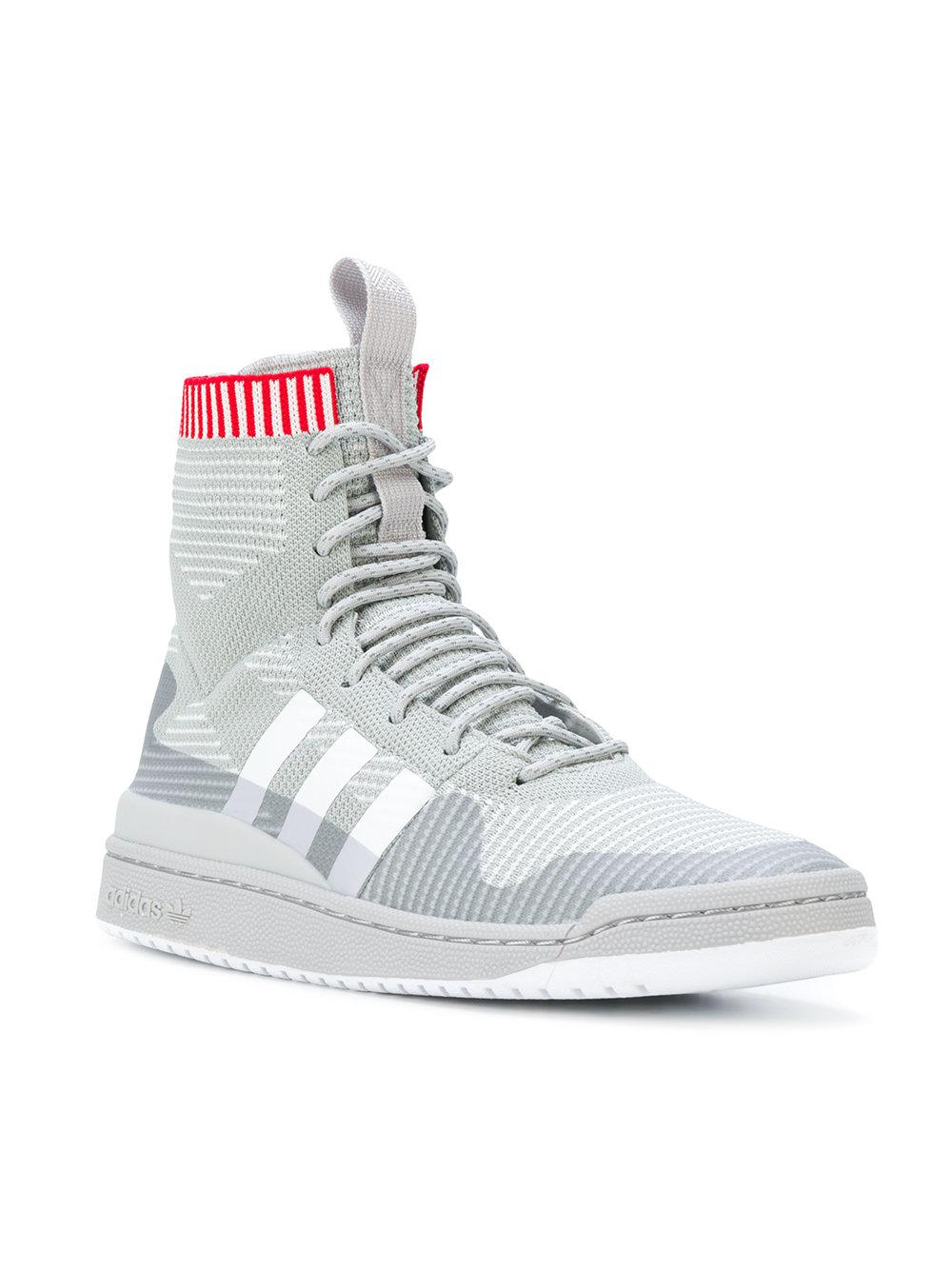 sports shoes 58073 5572b Lyst - adidas Forum Primeknit Winter Sneakers in Gray for Me