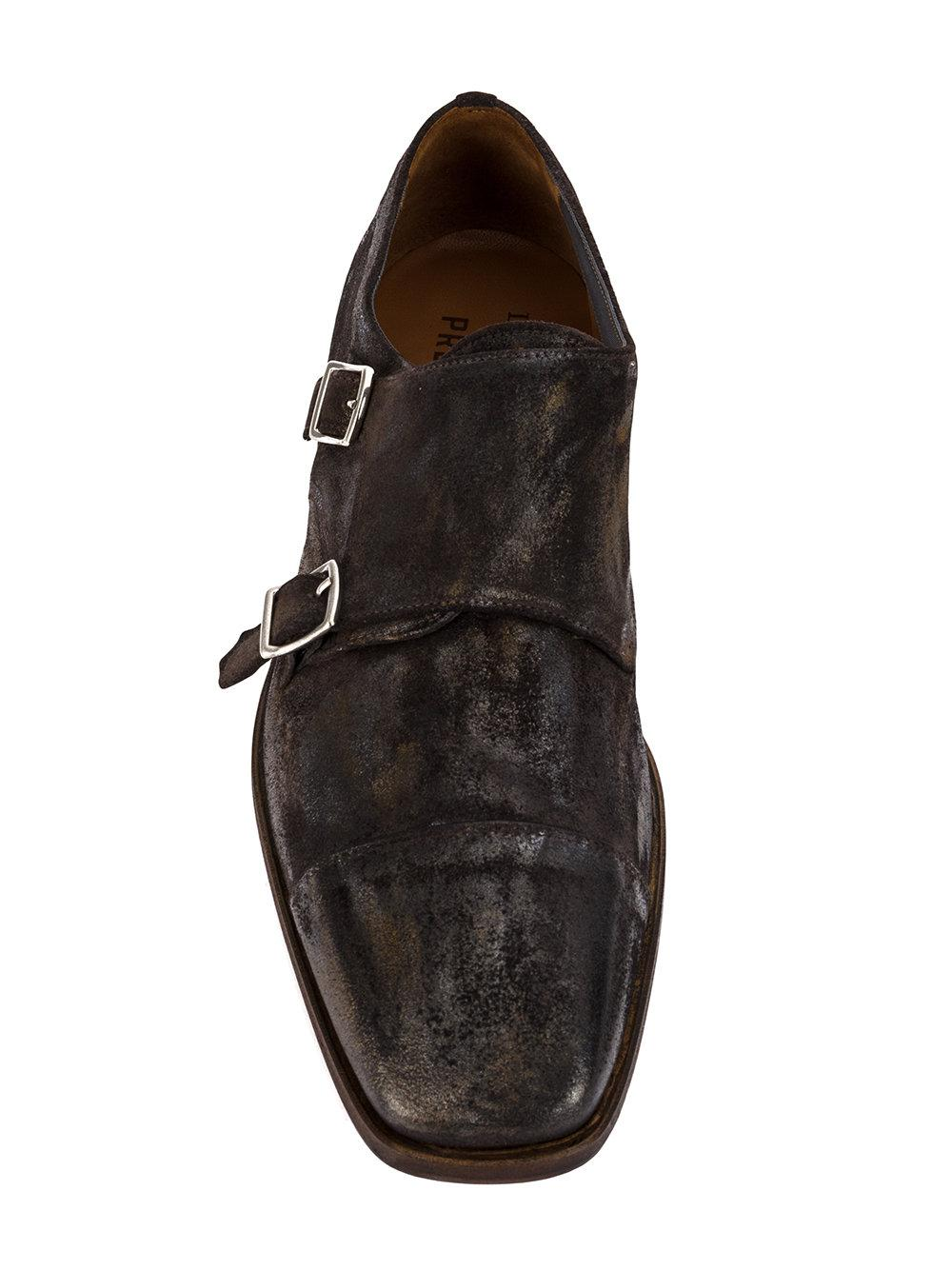 Premiata Leather Monk Shoes in Brown for Men
