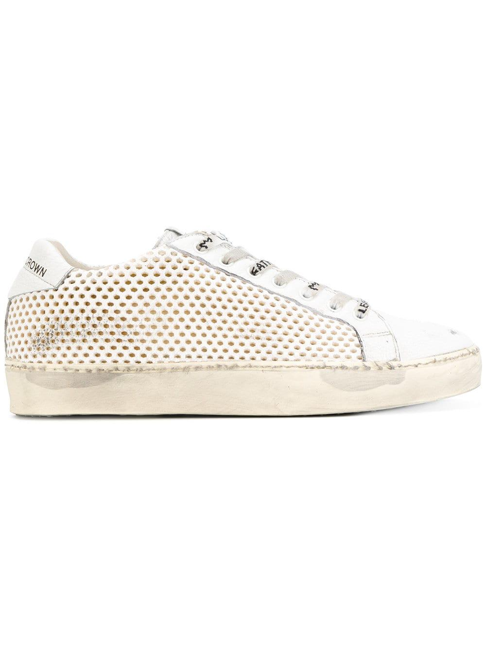 Leather Crown Leather M Iconic 2 Trainers in White