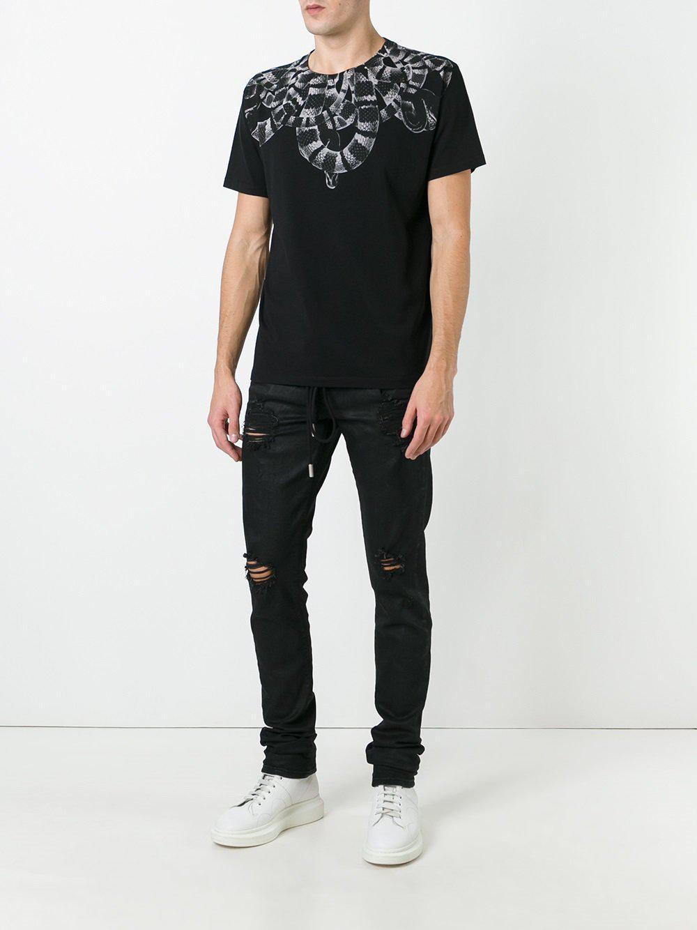 04599f0b578f Lyst - Off-White c o Virgil Abloh Ripped Drawstring Skinny Jeans in Black  for Men