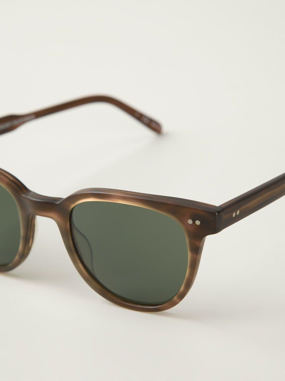Garrett Leight 'angelus' Sunglasses in Brown