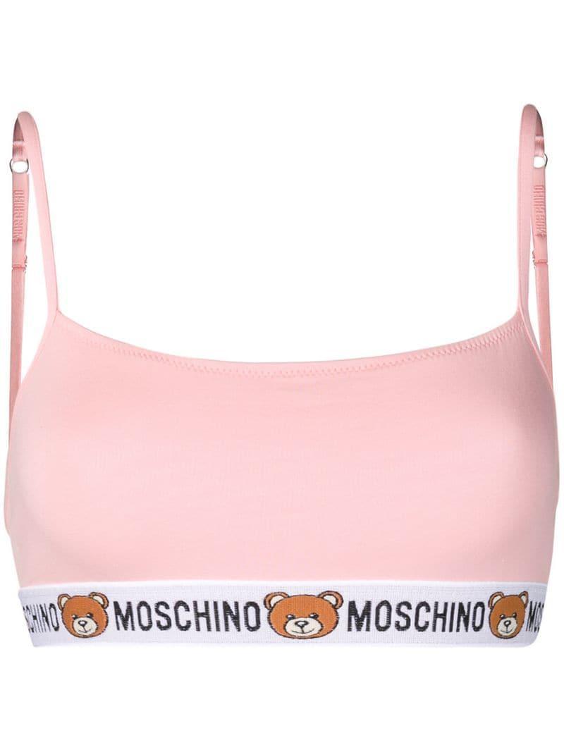 0544f6679592b Lyst - Moschino Bear Sports Bra in Pink