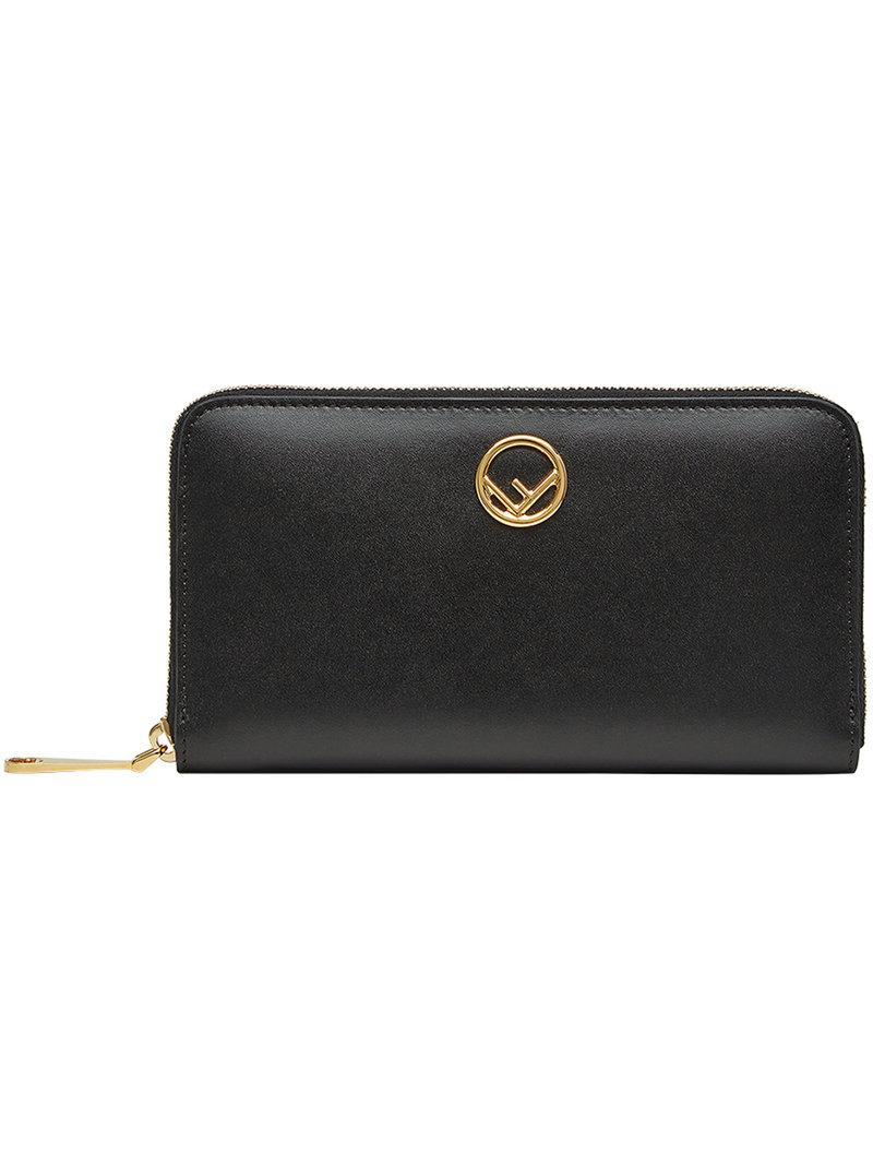 Lyst - Portefeuille zippé Fendi en coloris Noir c31802836a0