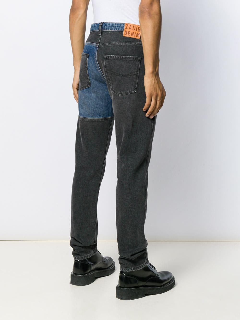 Zadig & Voltaire Denim Jeans mit geradem Saum in Grau für Herren L8C47