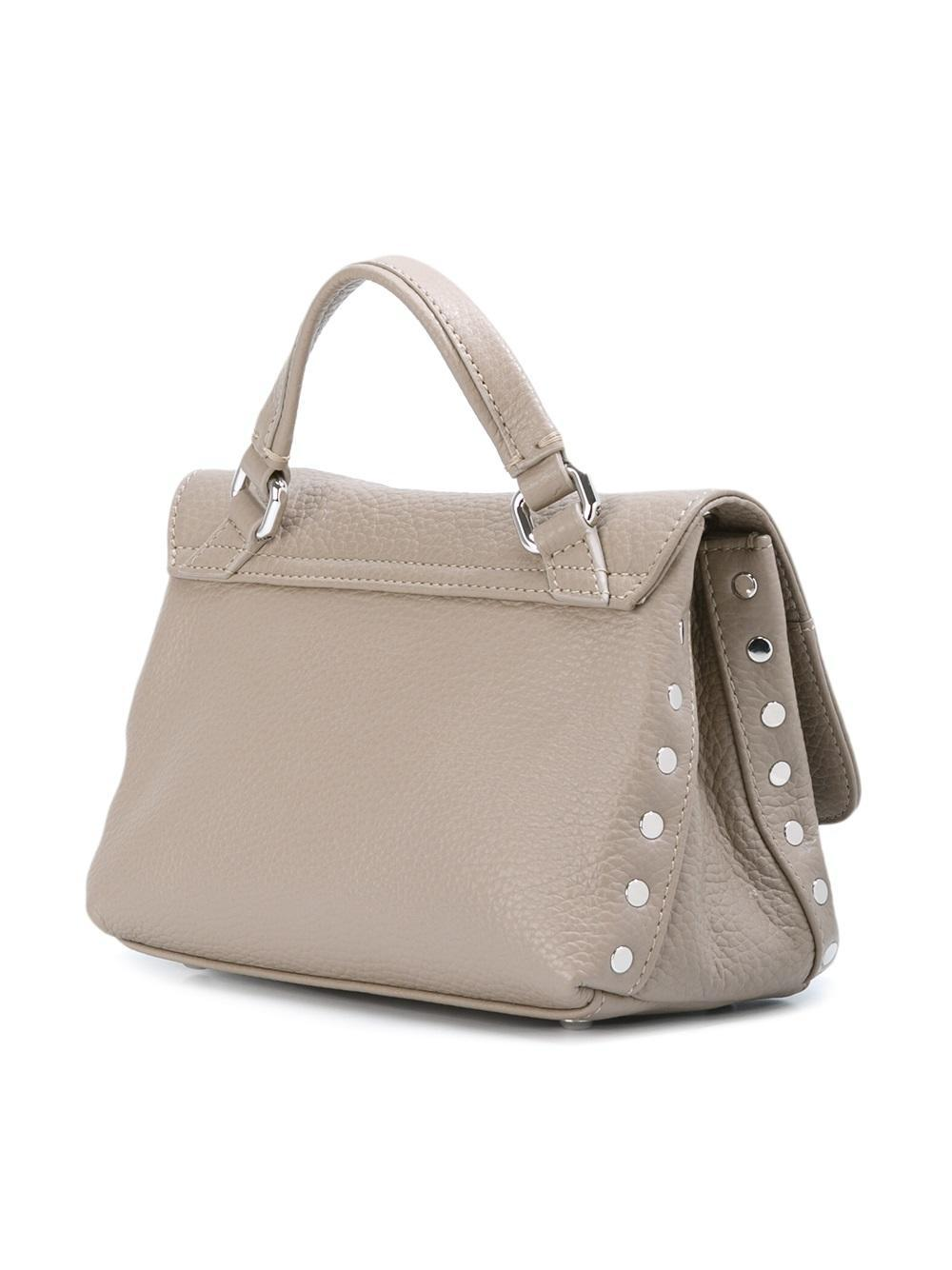 Zanellato Leather 'postina' Cross Body Bag in Grey (Grey)