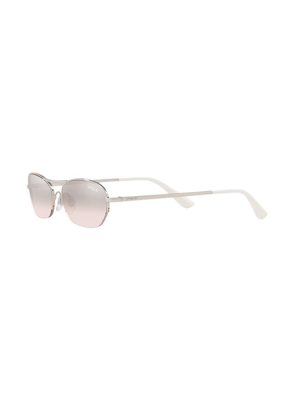 In Lyst Vogue Eyewear Metallic Sunglasses Round Mirrored wgBqRI