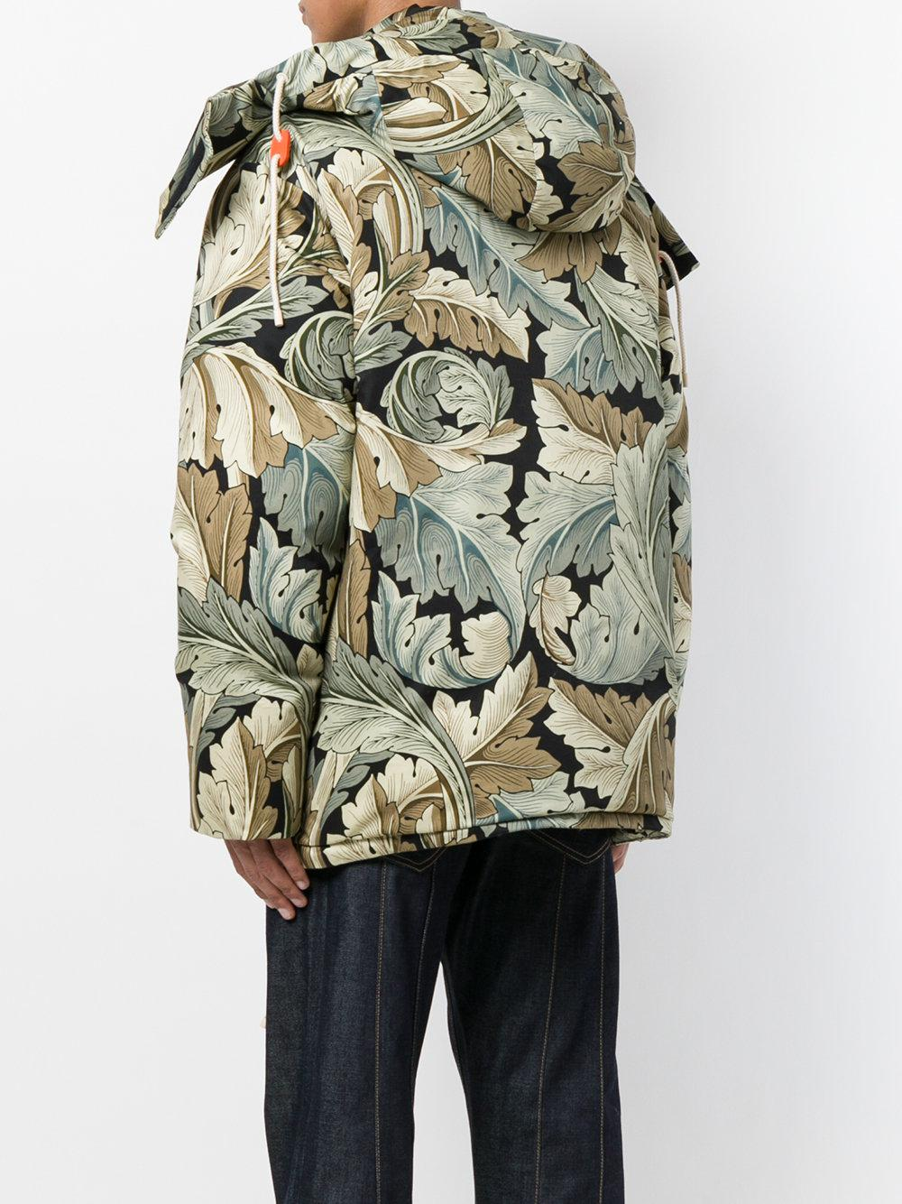 Loewe Cotton X William Morris Acanthus Print Puffer Jacket in Green for Men