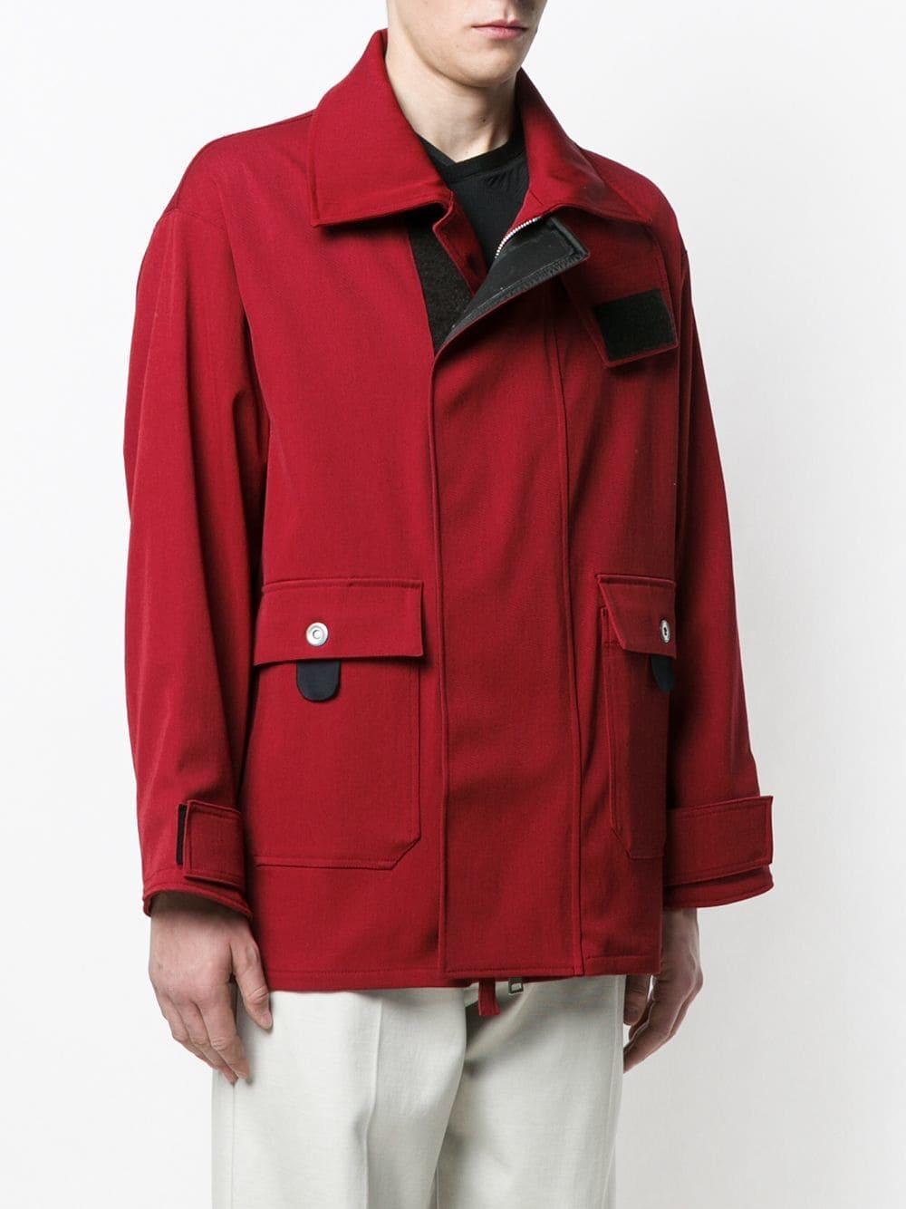 Mackintosh 0004 Wol Brandweerjas in het Rood voor heren