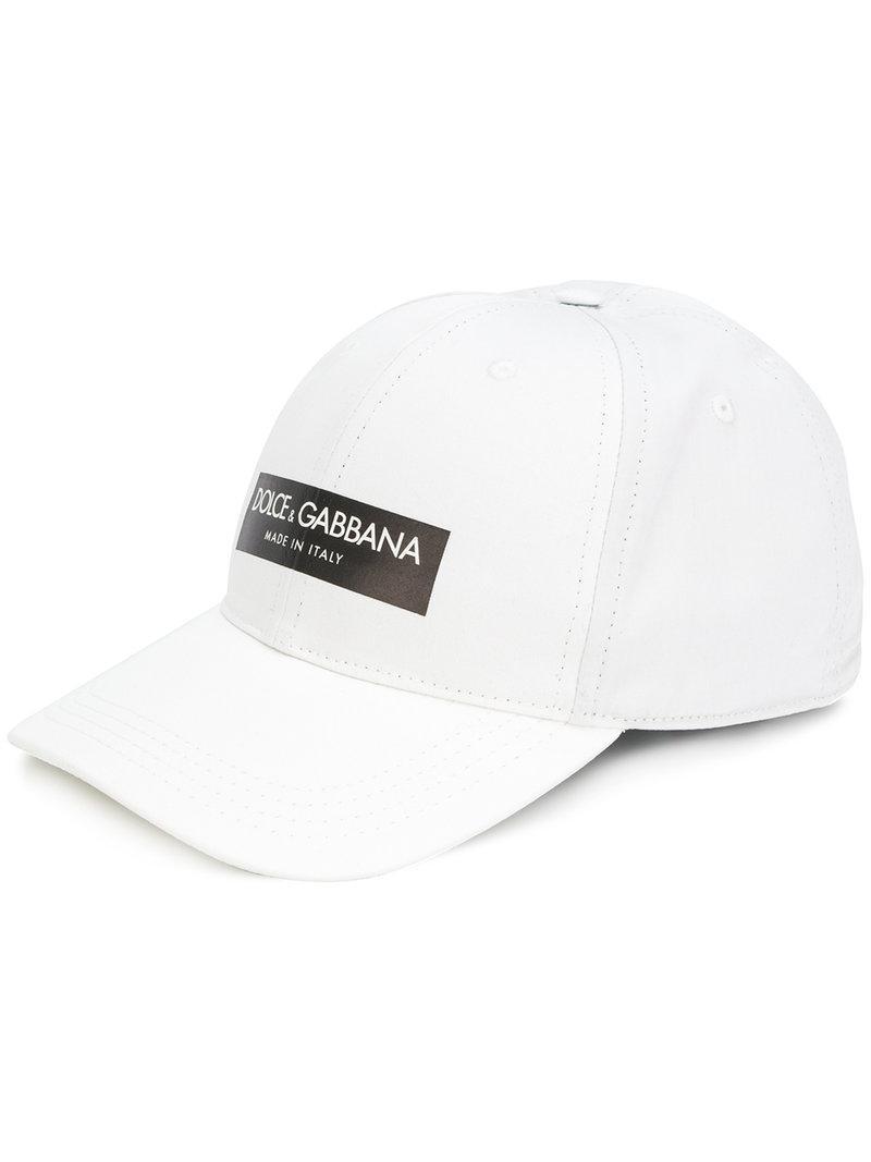 King printed baseball cap - White Dolce & Gabbana uSIUjtbZep