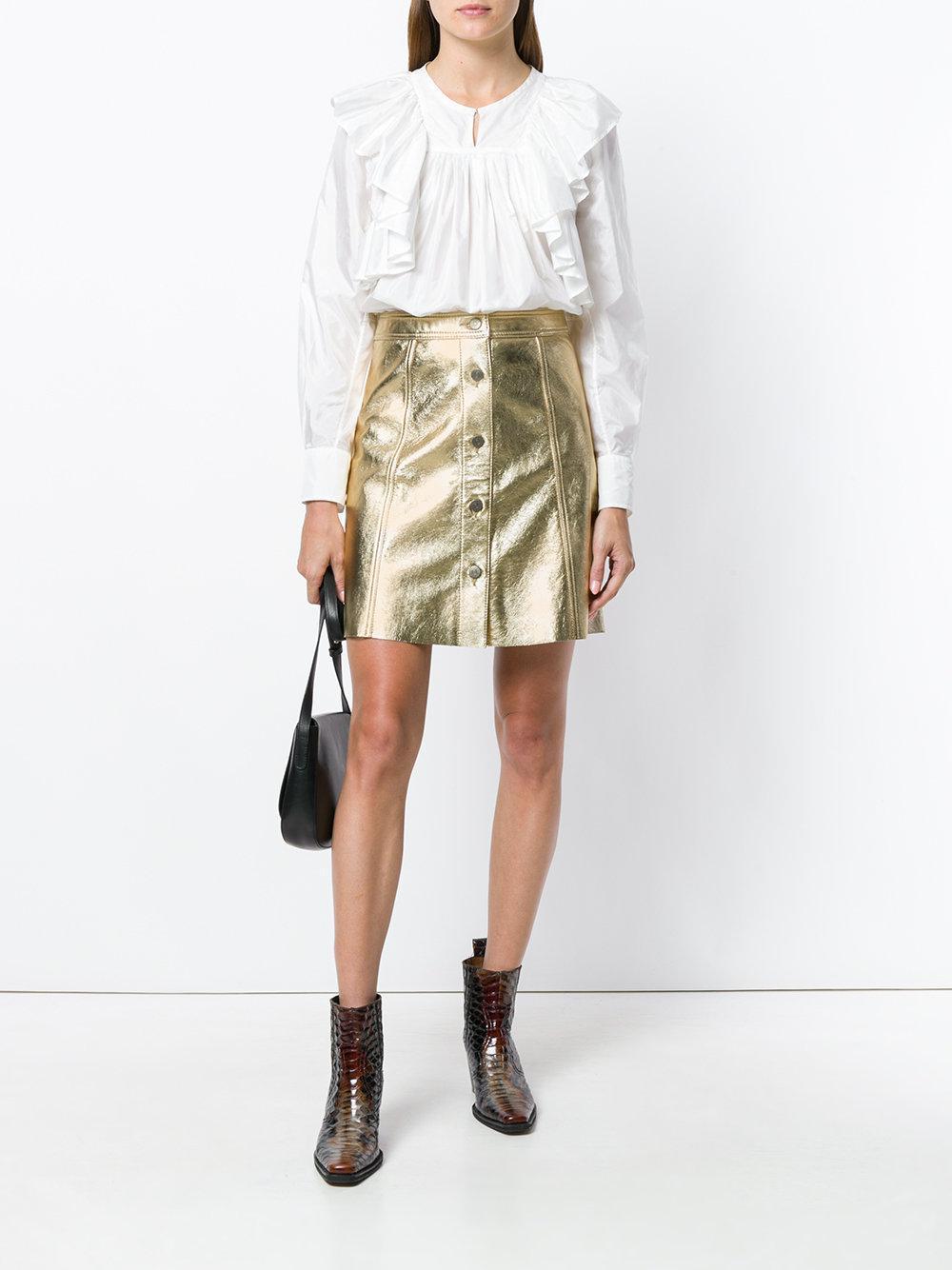 M.i.h Jeans Denim Byall Skirt in Metallic