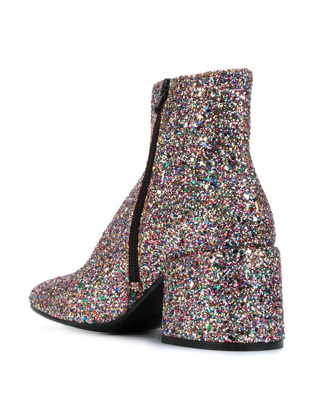 MM6 by Maison Martin Margiela Leather Glitter Boot
