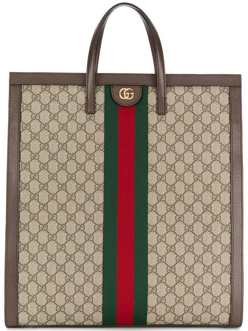 de27fe60c7c29 Lyst - Gucci Ophidia Gg Supreme Canvas Tote - - Save 2.3255813953488342%
