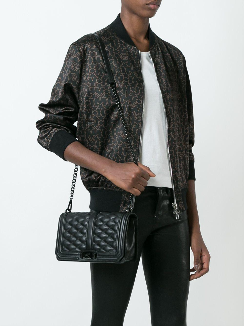 Lyst Rebecca Minkoff Love Quilted Crossbody Bag In Black