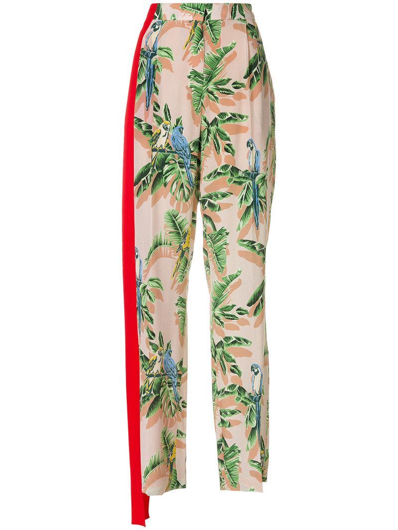 tropical print trousers - Pink & Purple Stella McCartney 9a9U2LW9W