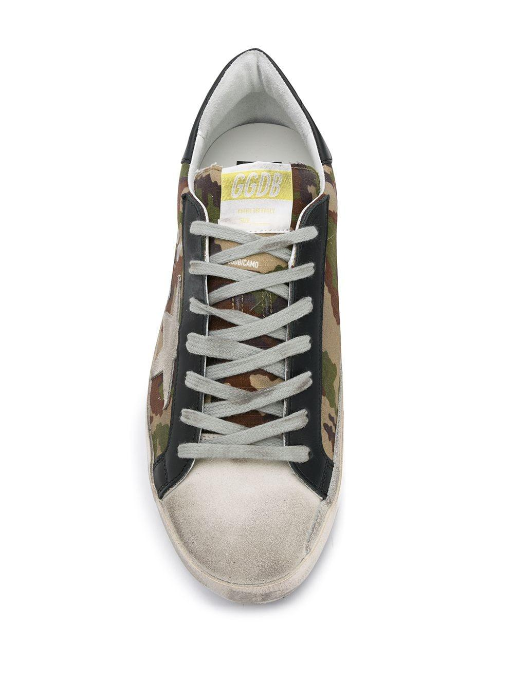 Golden Goose Deluxe Brand Ganzendons Superstar Sneakers Met Camouflageprint in het Groen voor heren