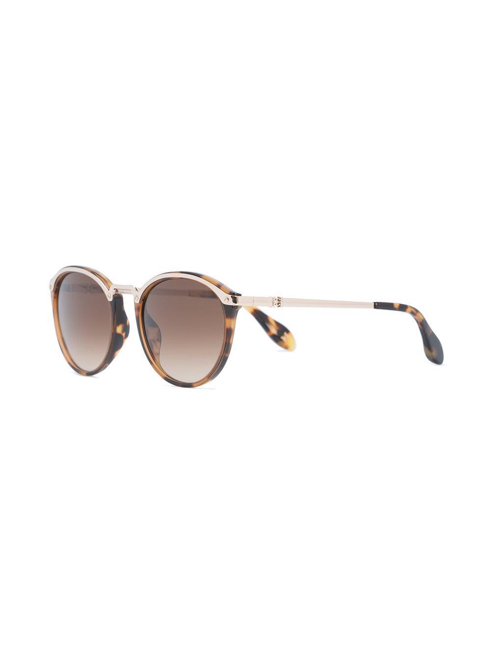 Lyst - Gafas de sol con montura redonda de carey Carolina Herrera de ... f24070c17e4a