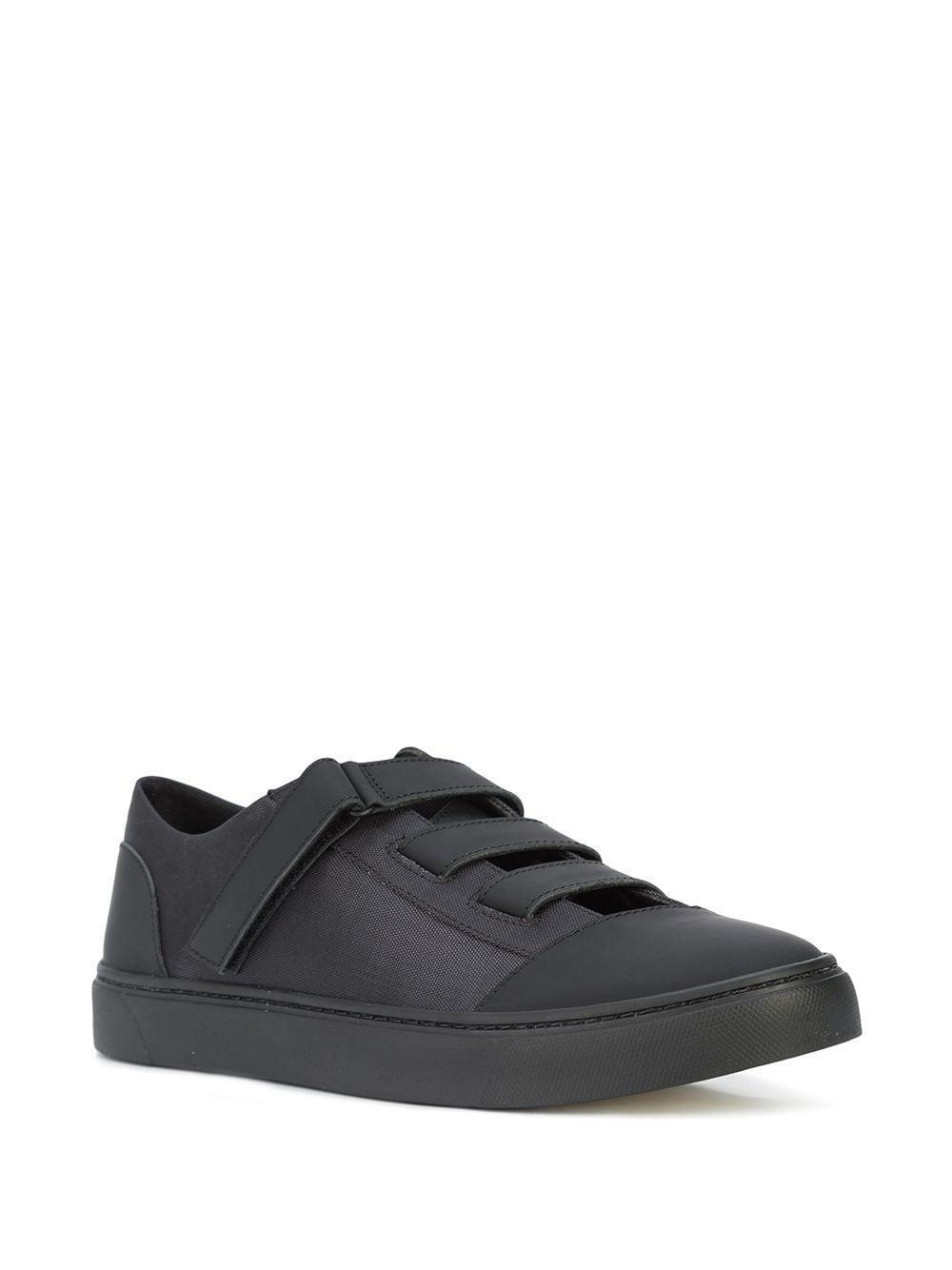 Yohji Yamamoto Leer Riemen Sneakers in het Zwart voor heren