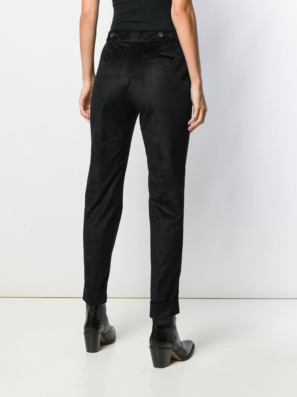 Pantalones pitillo capri PT01 de Algodón de color Negro