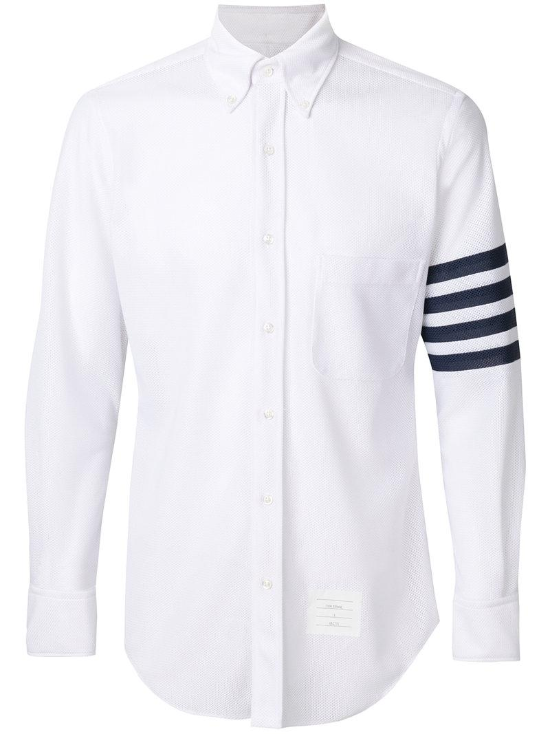 Lyst thom browne x colette striped shirt in white for men for Thom browne shirt sale
