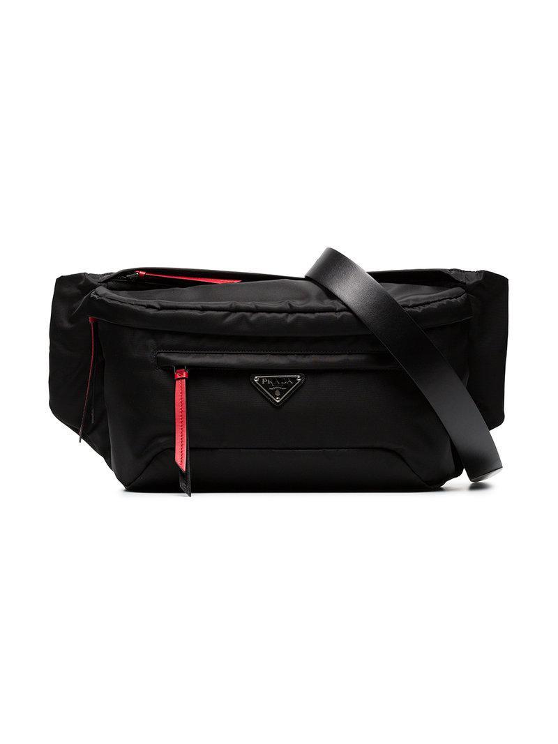 1df4d7bf01a4 Prada Vela Belt Bag in Black - Lyst